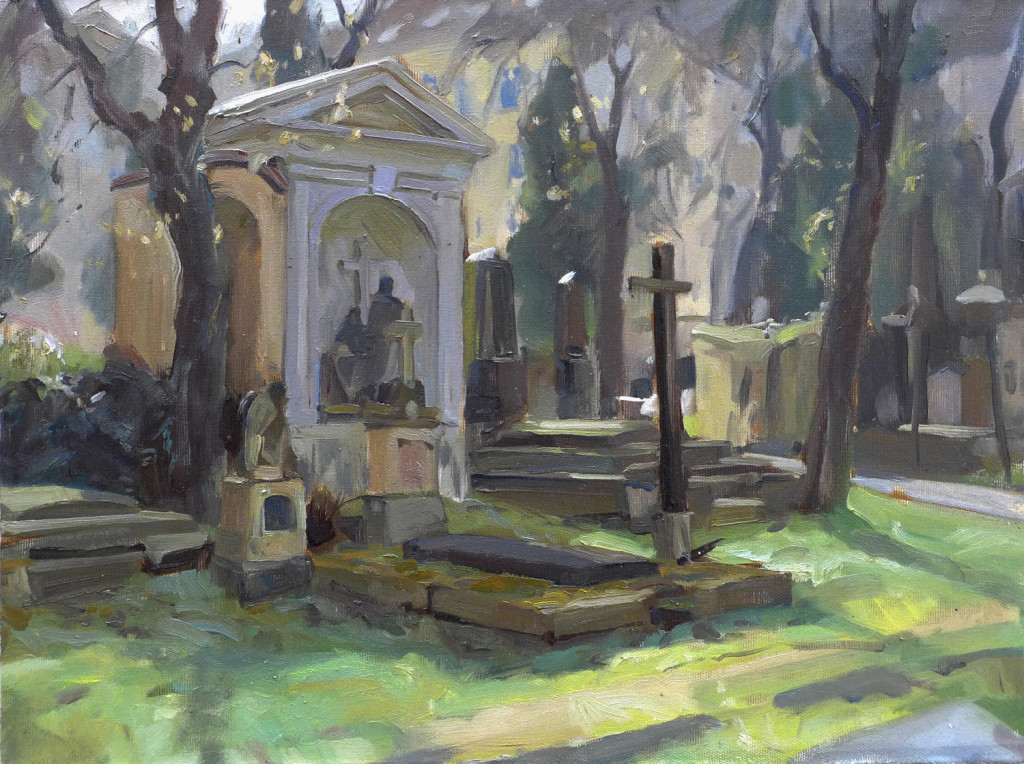 Cemetery, oil on canvas, 36x46cm, April 2016