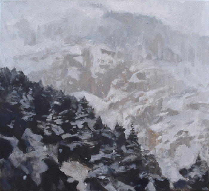 In the Snowstorm Oil on canvas, 45x50cm